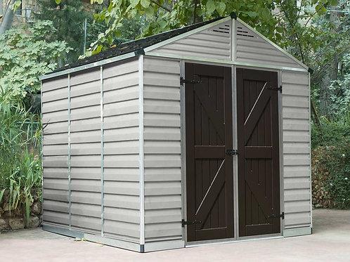 מחסן גדול לגינה Skylight, קרם- 2.4x2.3 מטר
