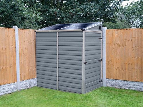 מחסן קטן לגינה Skylight- עם גג חד שיפועי, אפור- 1.2x1.8 מטר