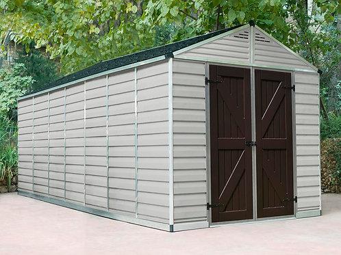 מחסן גדול לגינה Skylight, קרם- 2.4x5.3 מטר