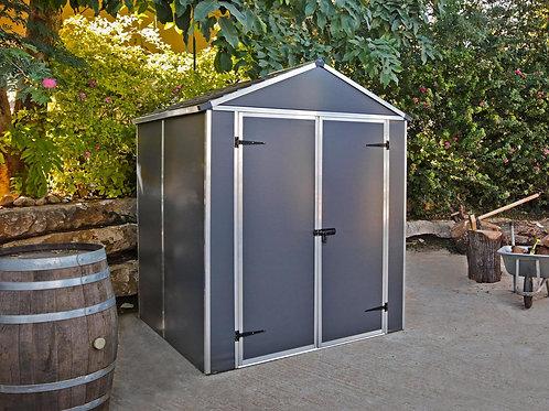 מחסן לגינה Rubicon, אפור כהה- 1.9x1.5 מטר