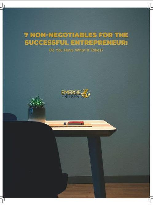 7 Non-Negotiables for Every Entrepreneur