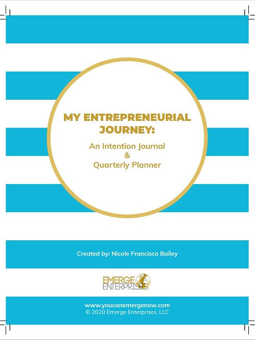 Entrepreneur Journal & Quarterly Planner Combo