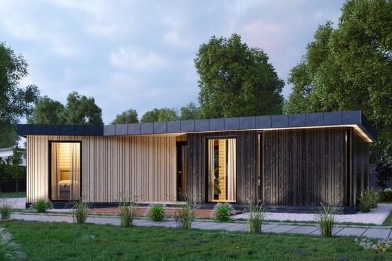 Визуализация модульный дом