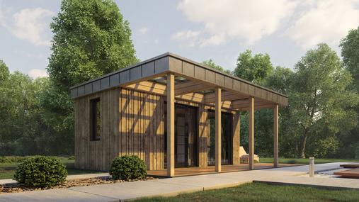 3D-виз модульный дом