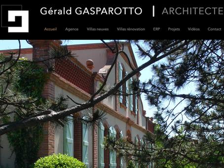 Refonte du site Gérald Gasparotto Architecte.