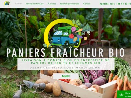 Mise en ligne du site E-commerce de Paniers fraîcheur bio