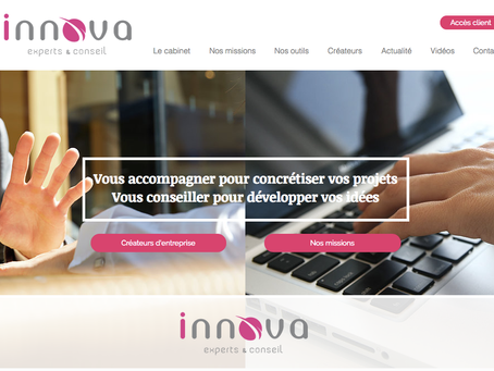 Mise en ligne du site web Innova Experts