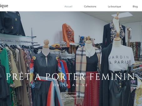 Création du site web de Safran boutique à L'Isle Jourdain