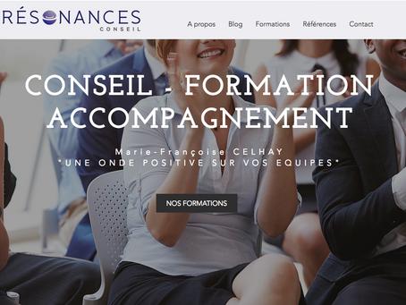 Création du site Résonances Conseil !