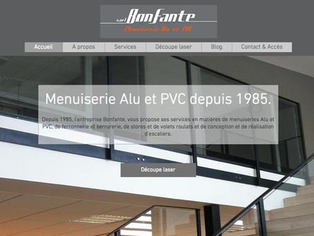 Menuiserie Bonfante : refonte site web