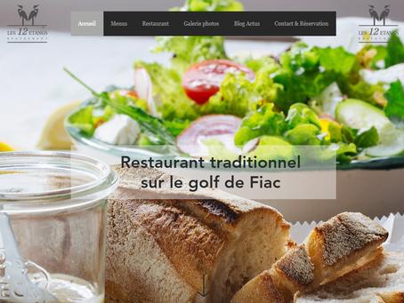 Site web Restaurant Les 12 étangs