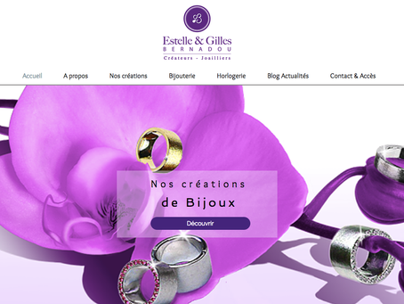Mise en ligne du site Estelle et Gilles Bernadou