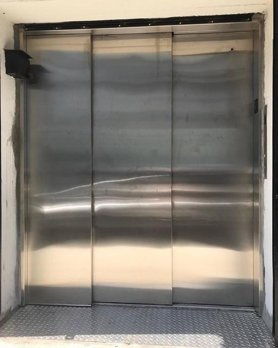 Exterior elevator doors