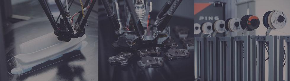 3D列印機列的印情況以及3D列印設備