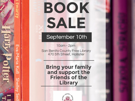 Book Sale on Saturday, September 10th