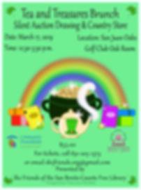 Tea and Treasures Brunch Poster  2019 C.