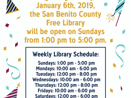 New Hours at the Library