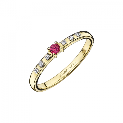 Bague Capsule d'Emotions Or Jaune Rubis