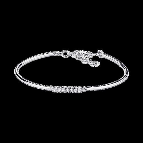 Bracelet Trois Grains D'Amour Or Blanc