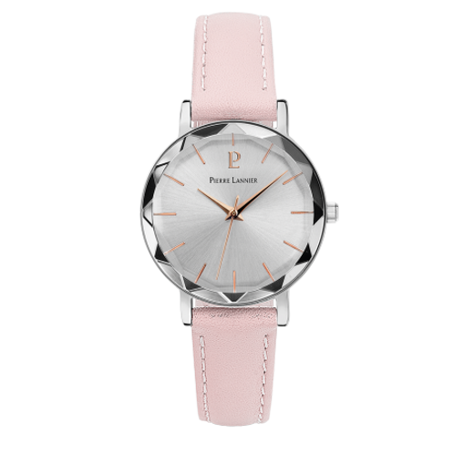 Pierre Lannier Montre Multiples  cuir rose