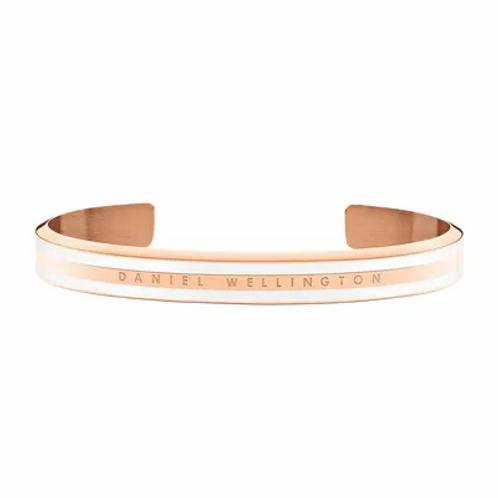 Daniel Wellington Classic Slim Bracelet Acier Rose Satin Blanc 166 mm