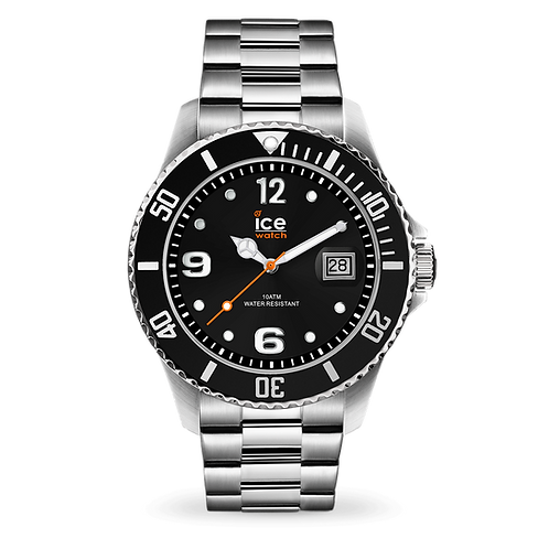 Montre Ice Watch Steel  Black Slver Medium