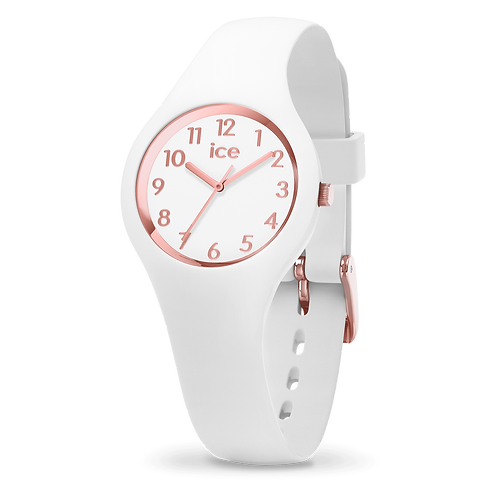 Montre Ice Watch Glam White Rose-Gold Numbers Extra-Small