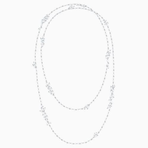 Sautoir Swarovski Louison blanc métal rhodié