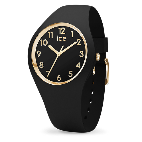Montre Ice Watch Glam Black Gold Numbers Small