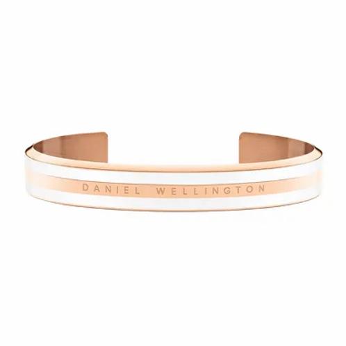 Daniel Wellington Classic Bracelet Acier Rose Satin Blanc 166 mm