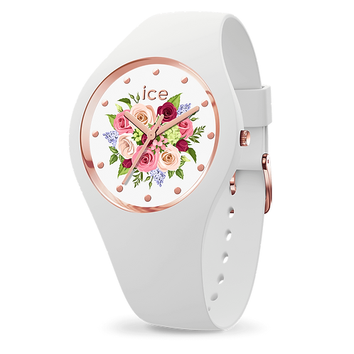 Montre Ice Watch Flower White Bouquet Small