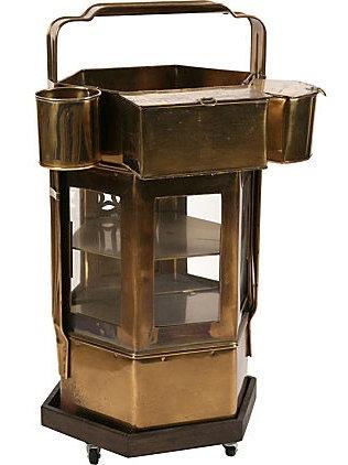 Brass Dim Sum Cart