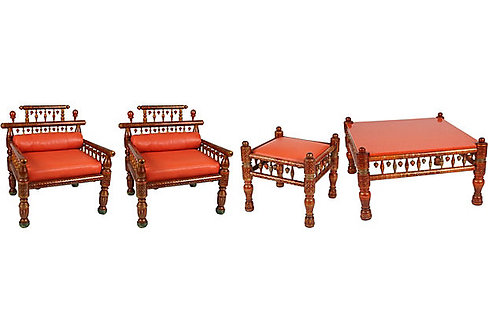 Moroccan Seating Set, 4 Pieces