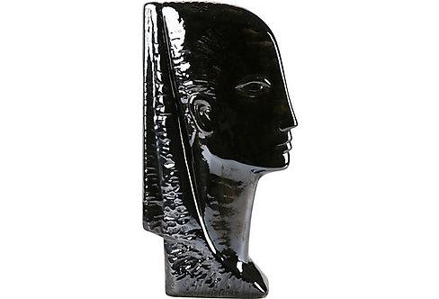 Black Ceramic Bust
