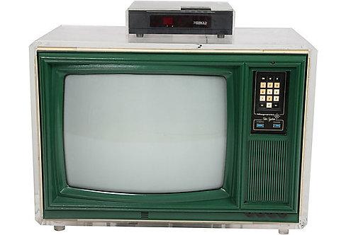 1970s Lucite Television Set