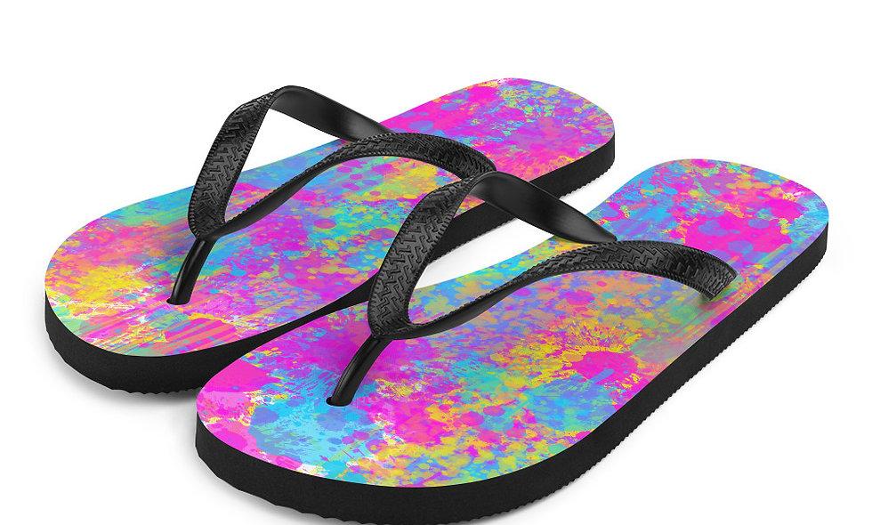 Splatter Flip-Flops
