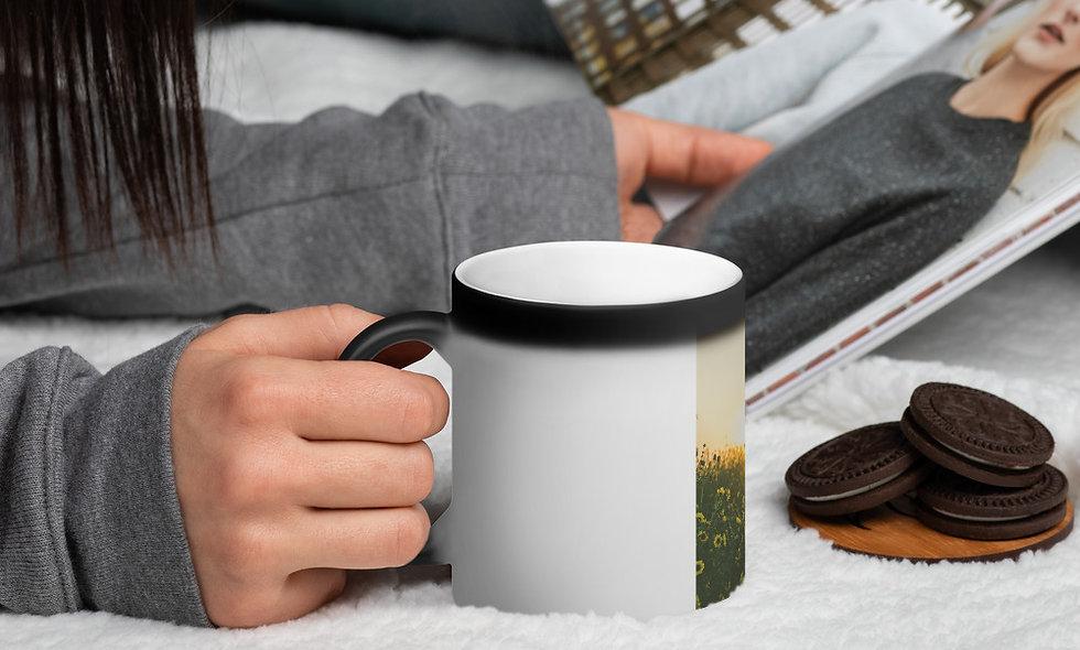 I Will Make It Through Today matte black magic mug