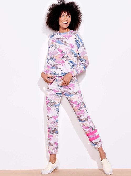 Sundry Stripe Abstract Camo Sweatpants