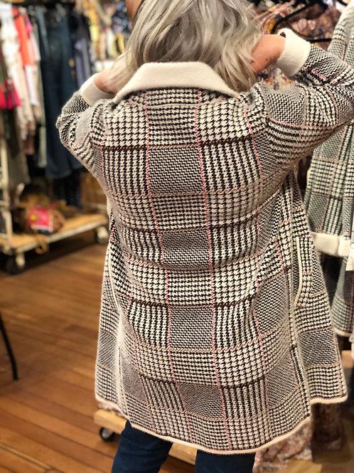 Plaid Sweater Coat