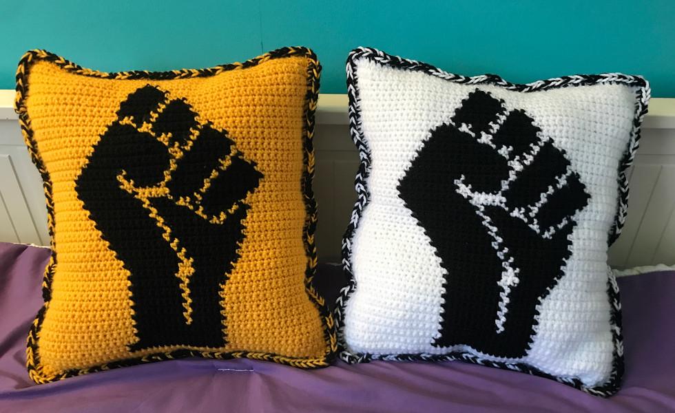 Black Power Pillows