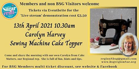 Carolyn Harvey Sewing Machine April Demo