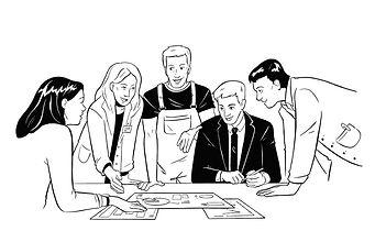 Illustration interdisziplinäres Team
