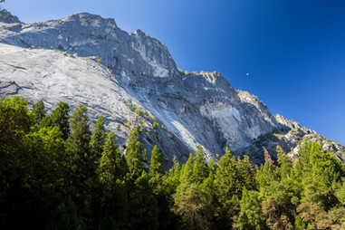 Glacier Point from Half Dome Village