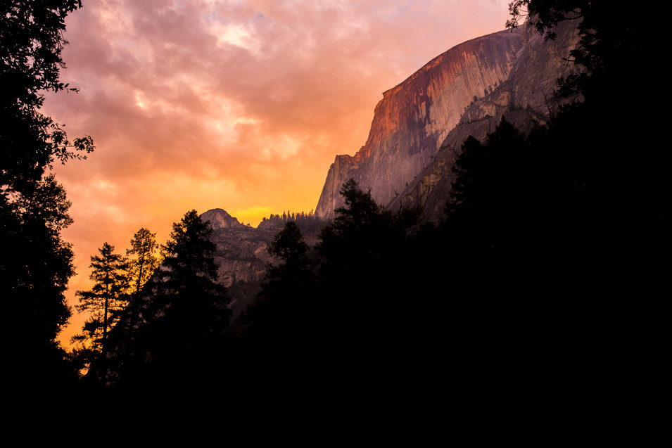 Half Dome at Sunset from Mirror Lake