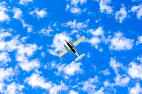 Sky, Clouds, and Airplane