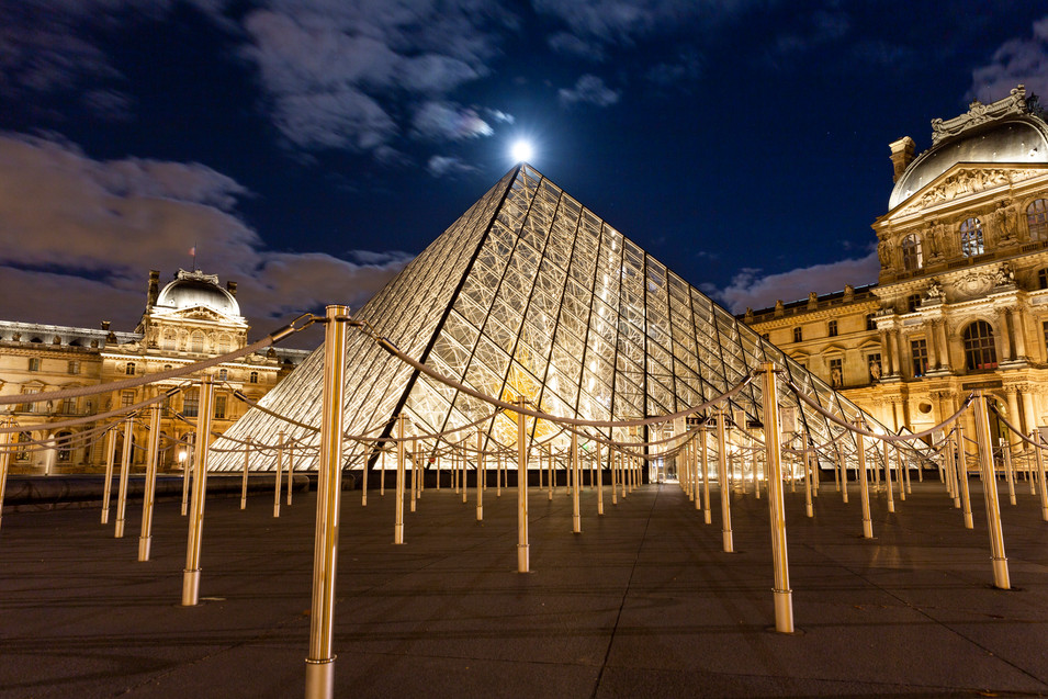 Louvre and Moon