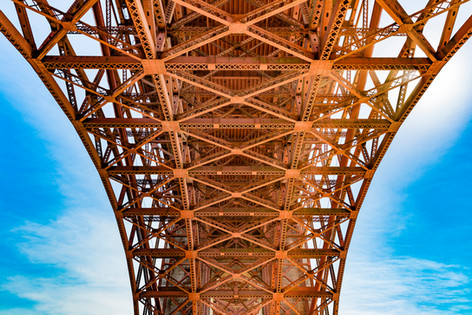 Underneath the Golden Gate Bridge