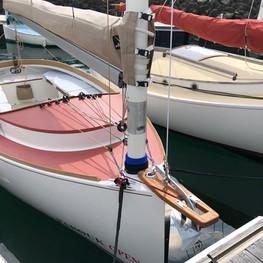 ancre Kobra 4 kg sur delphinière avec retour chaîne dans le cockpit