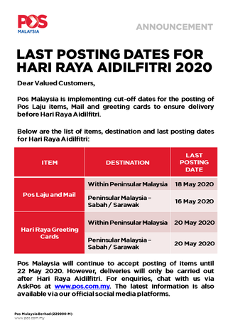 Notice From Pos Malaysia