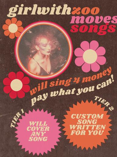Singer/Songwriter Showcase Poster for @girlwithzoo